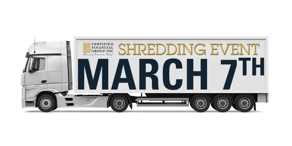 Certified Financial Group Shred Event 2020