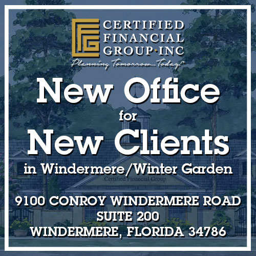 New Office For New Clients in Windermere/Winter Garden 9100 CONROY WINDERMERE ROAD SUITE 200 WINDERMERE, FLORIDA, 34786