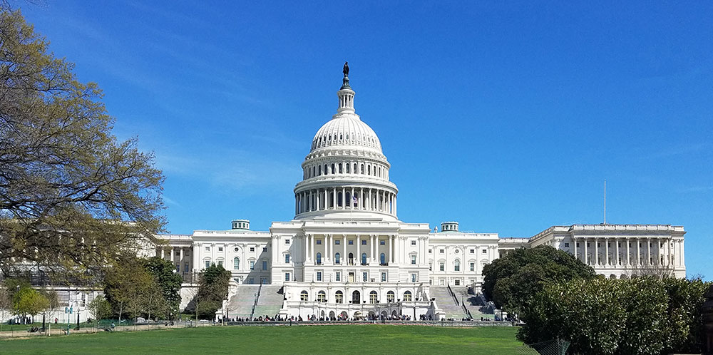 United States Capitol Building, on Capitol Hill in Washington DC